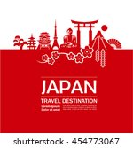 japan travel destination vector.
