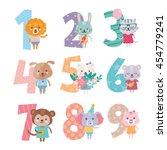 birthday anniversary numbers... | Shutterstock .eps vector #454779241
