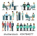 work and distribution office | Shutterstock . vector #454784077