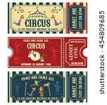 vintage circus banner... | Shutterstock .eps vector #454809685