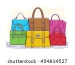set of bags. fashion handbag... | Shutterstock .eps vector #454814527