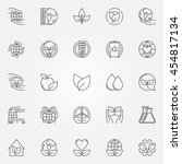 ecology icons set. vector thin...   Shutterstock .eps vector #454817134