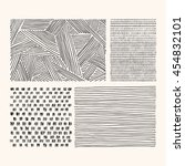 hand drawn textures and brushes.... | Shutterstock .eps vector #454832101