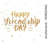 happy friendship day  vector... | Shutterstock .eps vector #454832461