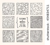 hand drawn textures and brushes....   Shutterstock .eps vector #454834711