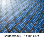 aerial view of the solar panel... | Shutterstock . vector #454841275
