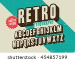 Vector of stylized retro font and alphabet | Shutterstock vector #454857199