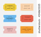 ticket vector icons isolated... | Shutterstock .eps vector #454865335