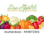 vector farm harvest... | Shutterstock .eps vector #454872301
