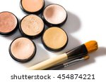 overhead close up of selection... | Shutterstock . vector #454874221