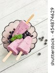 currant popsicle with berries... | Shutterstock . vector #454874629
