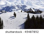 downhill skiing | Shutterstock . vector #45487852