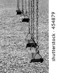 Playground Swings In Black And...
