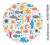 vector cartoon illustration ... | Shutterstock .eps vector #454879849