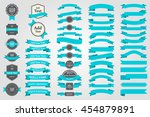 ribbons and tags collection set ... | Shutterstock .eps vector #454879891
