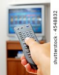 photo of a tv remote control. | Shutterstock . vector #4548832