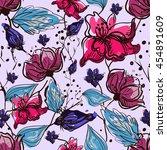 Flower Seamless Pattern. Vecto...