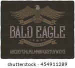 vintage textured font with... | Shutterstock .eps vector #454911289