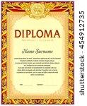 empty diploma template. hard... | Shutterstock .eps vector #454912735