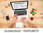 search job on internet  find... | Shutterstock . vector #454918879