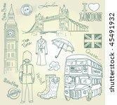 london doodles | Shutterstock .eps vector #45491932
