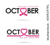 breast cancer awareness logo... | Shutterstock .eps vector #454919791