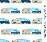 seamless pattern travel theme....   Shutterstock .eps vector #454922041