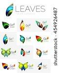 leaf logo set. collection of... | Shutterstock . vector #454926487