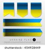 set of world flag ribbon... | Shutterstock .eps vector #454928449