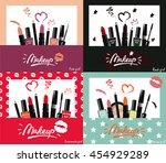 makeup artist business card...   Shutterstock .eps vector #454929289