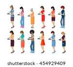 vector illustration isolated... | Shutterstock .eps vector #454929409