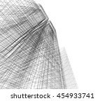 abstract architecture 3d... | Shutterstock . vector #454933741