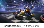 kart crossing the finish line | Shutterstock . vector #454936141