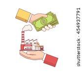 business acquisition deal.... | Shutterstock .eps vector #454937791