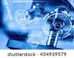 chemistry still life . mixed...   Shutterstock . vector #454939579
