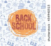 back to school banner template... | Shutterstock .eps vector #454940515