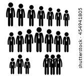 business relationships  ... | Shutterstock .eps vector #454941805
