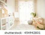 kindergarten room with easel... | Shutterstock . vector #454942831