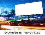 billboard blank for outdoor... | Shutterstock . vector #454944169