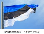 flag of estonia against the sky | Shutterstock . vector #454944919