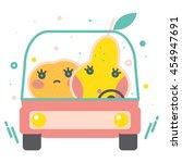 colorful apple illustration ... | Shutterstock .eps vector #454947691