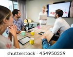 business people discussing over ...   Shutterstock . vector #454950229