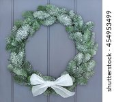 Snow Covered Christmas Wreath...