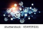 social networking scheme .... | Shutterstock . vector #454959331