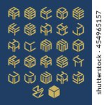 vector isometric alphabet.... | Shutterstock .eps vector #454965157