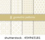 set of vector geometric... | Shutterstock .eps vector #454965181