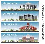 set of university study banners.... | Shutterstock .eps vector #454965829