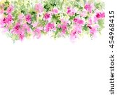 floral background. watercolor... | Shutterstock . vector #454968415