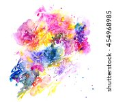 watercolor background.... | Shutterstock . vector #454968985
