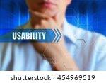 usability title button.... | Shutterstock . vector #454969519